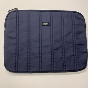 """Tumi Laptop Sleeve Case Blue Quilted 11"""" x 15"""""""